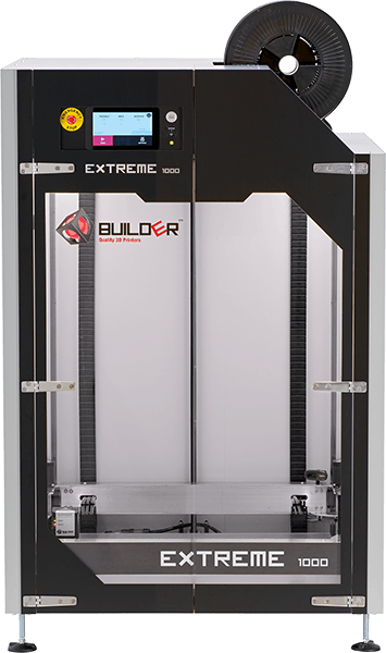 Front view of the Builder Extreme 1000 PRO 3D printer